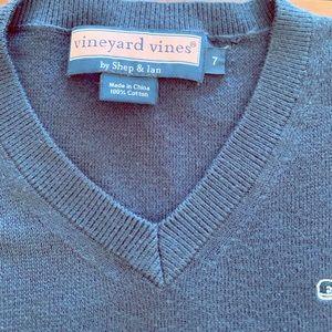 Vineyard Vines Navy Vneck Sweater